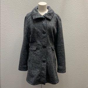 Weatherproof heather gray long fleece jacket XL